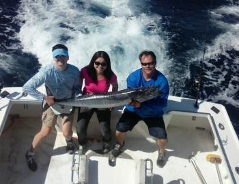 Ryan and Mindy with their citation wahoo on the Sea Angel II