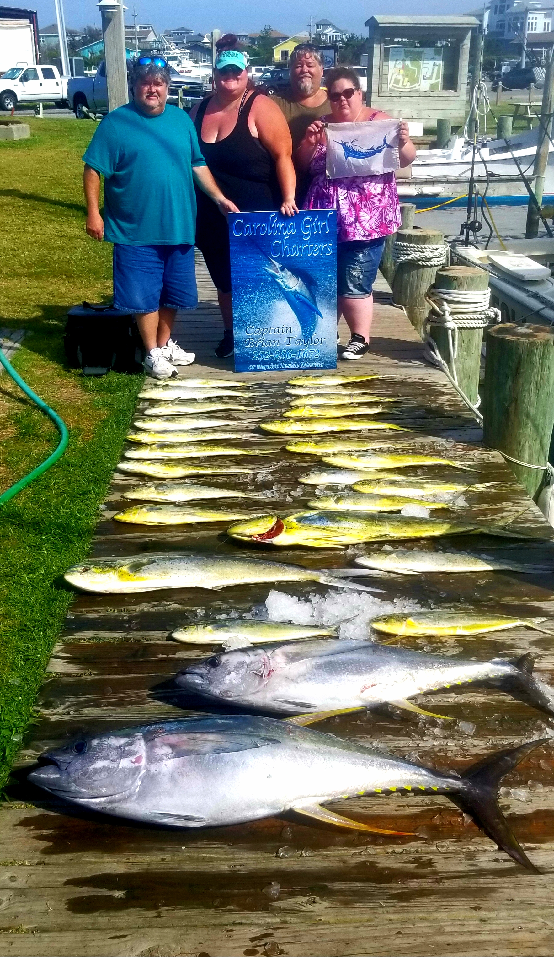 Carolina Girl Fishing Charter Teach's Lair Tuna Mahi Dolphin