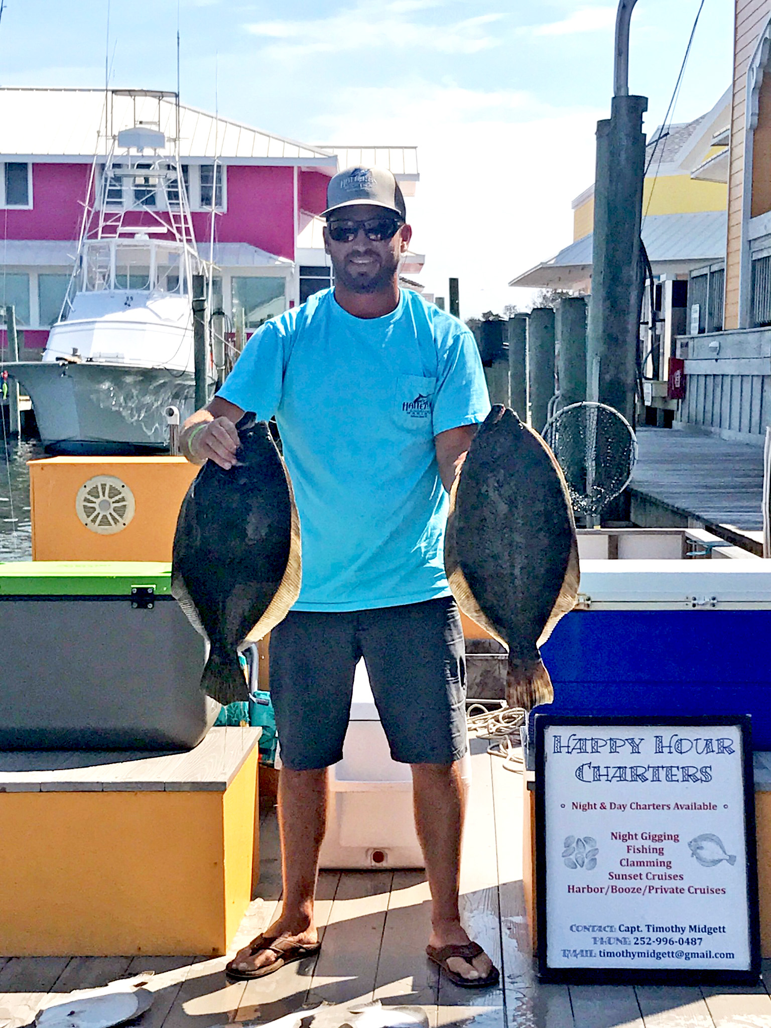 Happy Hour Charters with Captain Timothy Midgett