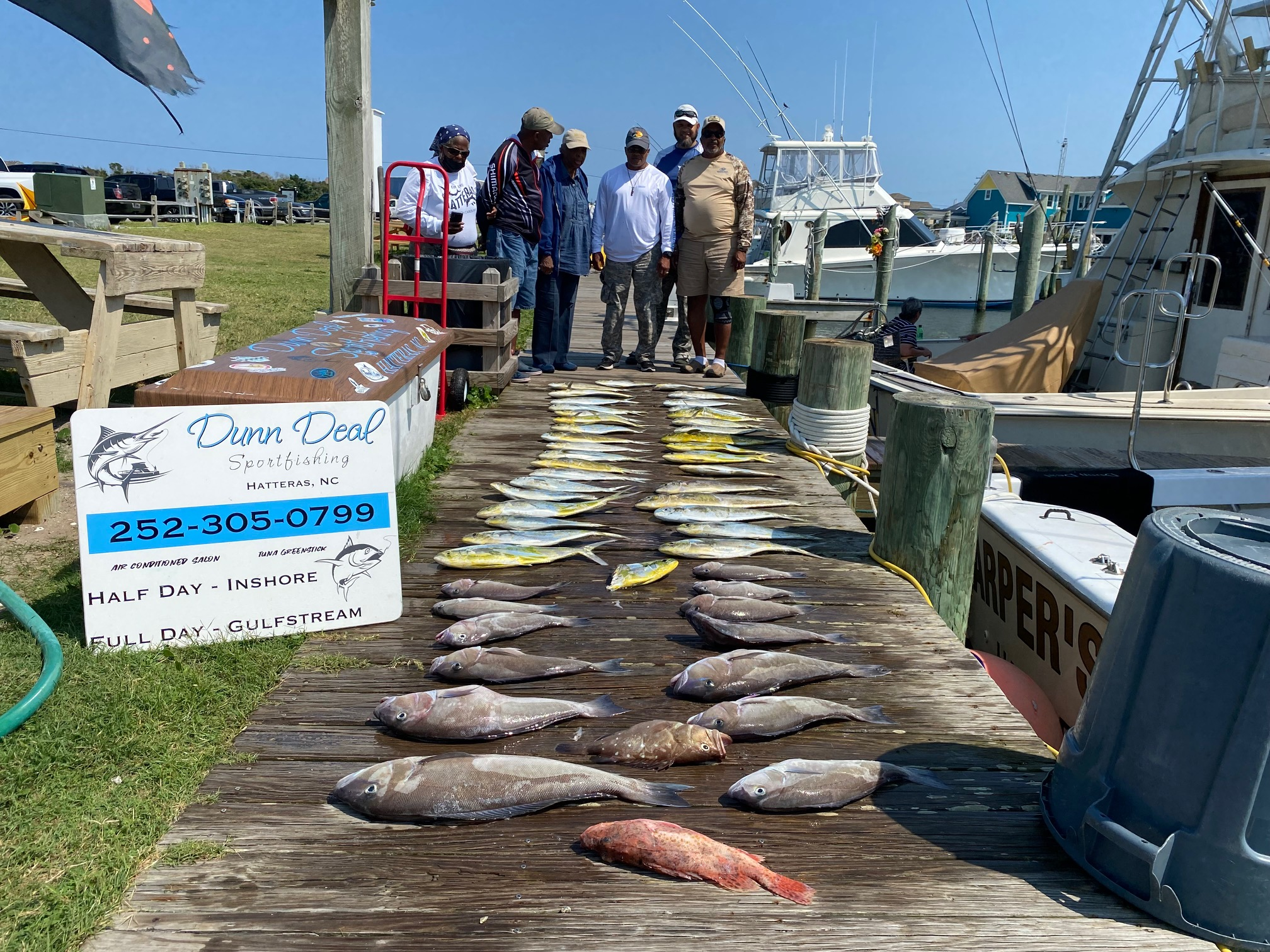 Dunn Deal Sportfishing Charters Hatteras, NC Teach's Lair Marina