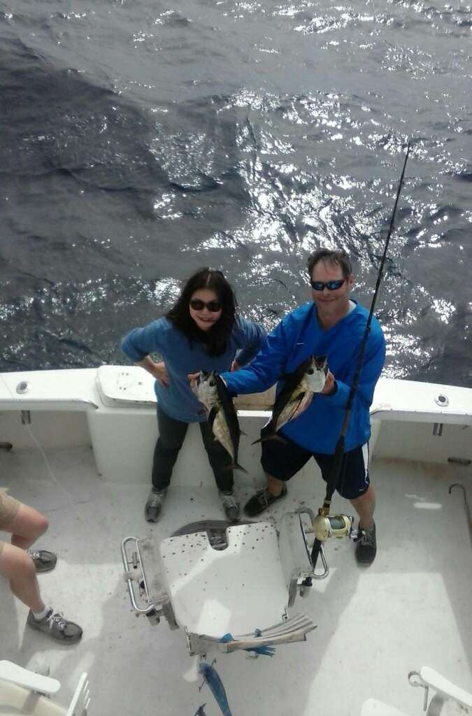 Ryan and Mindy getting that tuna on the Sea Angel II!