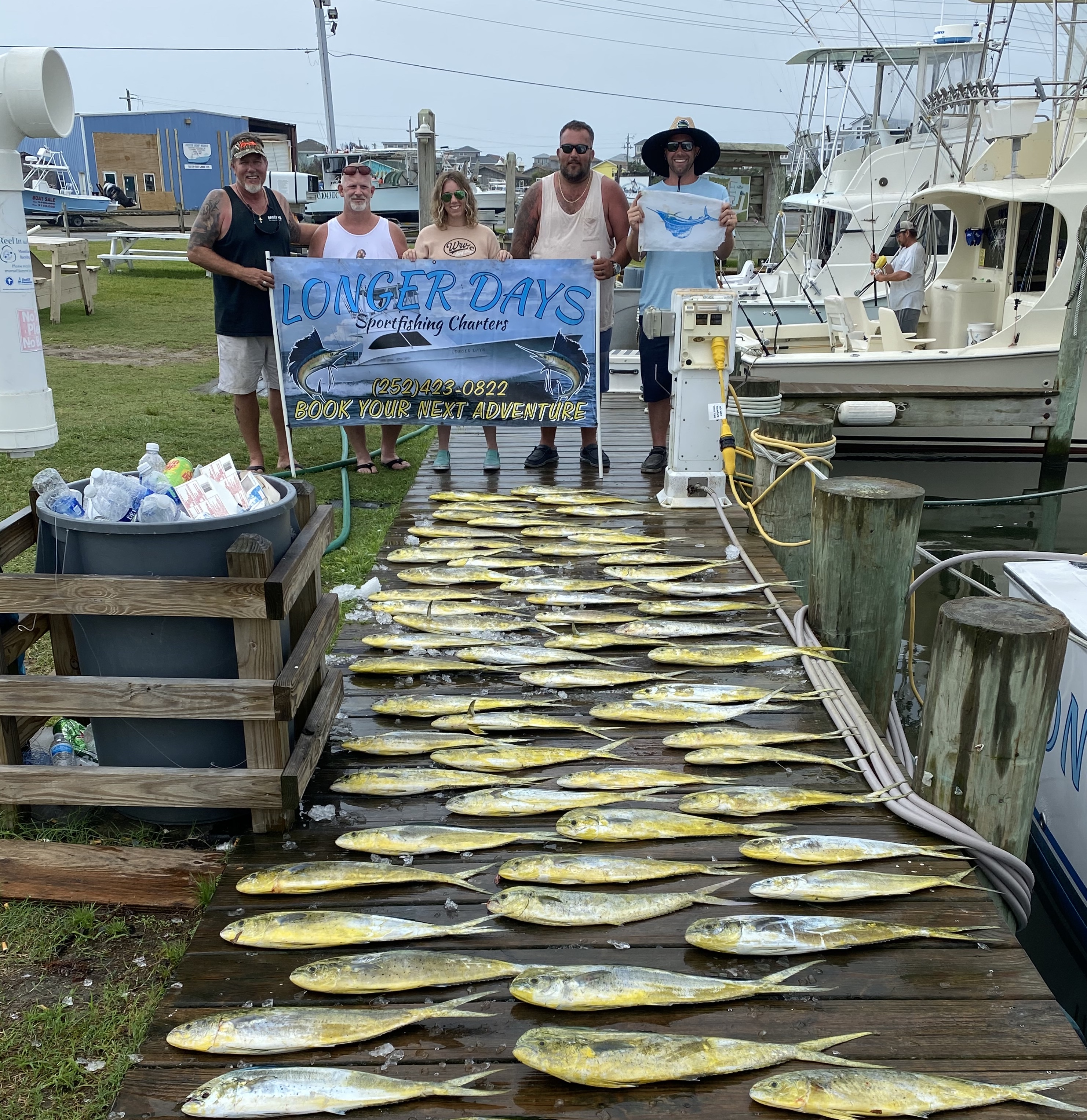Longer Days Fishing Charter Teach's Lair Mahi