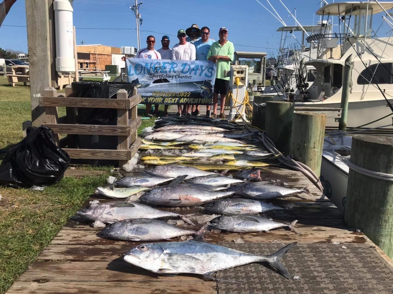 Hatteras Sportfishing Offshore Teach's Lair Charters Tuna Mahi