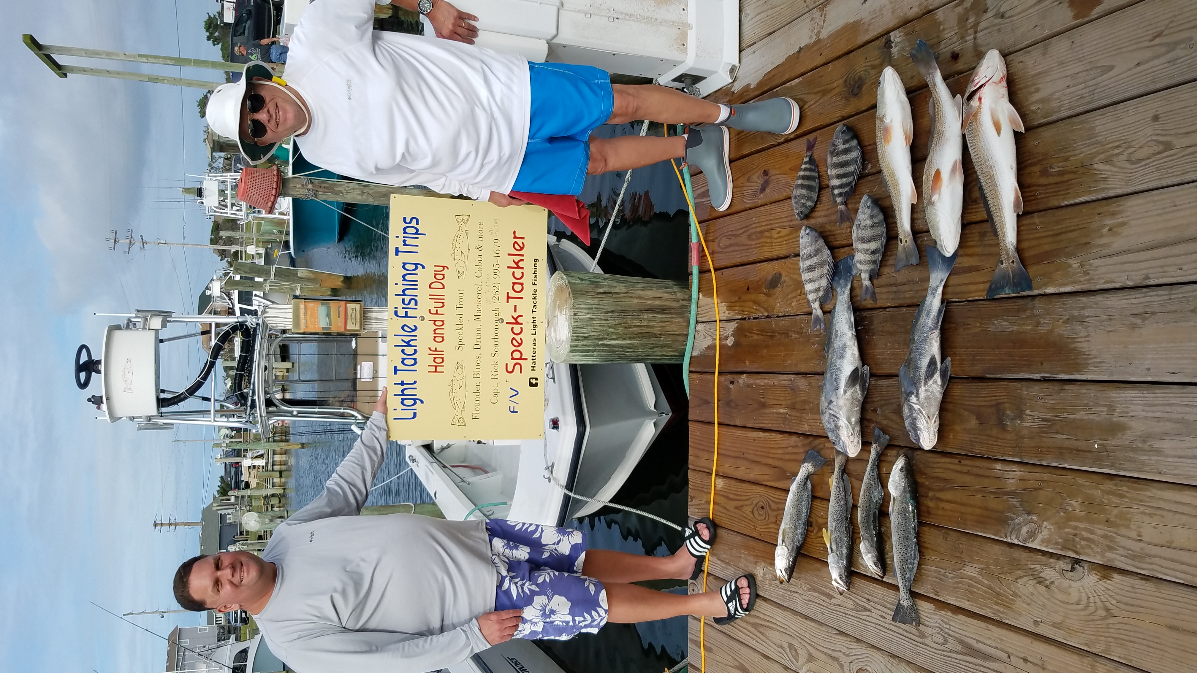 Speck-Tackler Inshore Fishing Charters Hatteras Teach's Lair