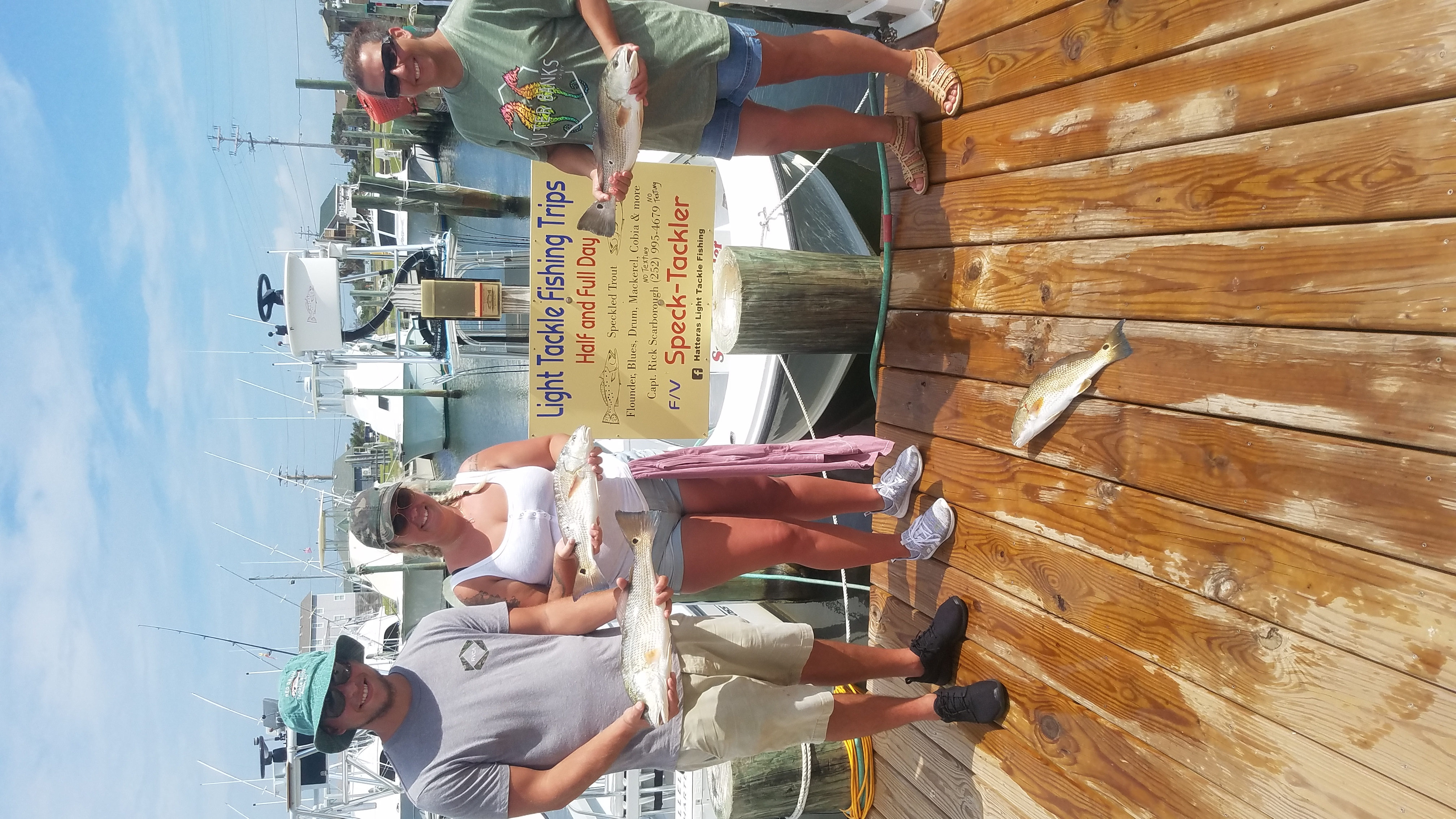 Speck-Tackler Fishing Charters Speckled Trout Red Drum Teach's Lair