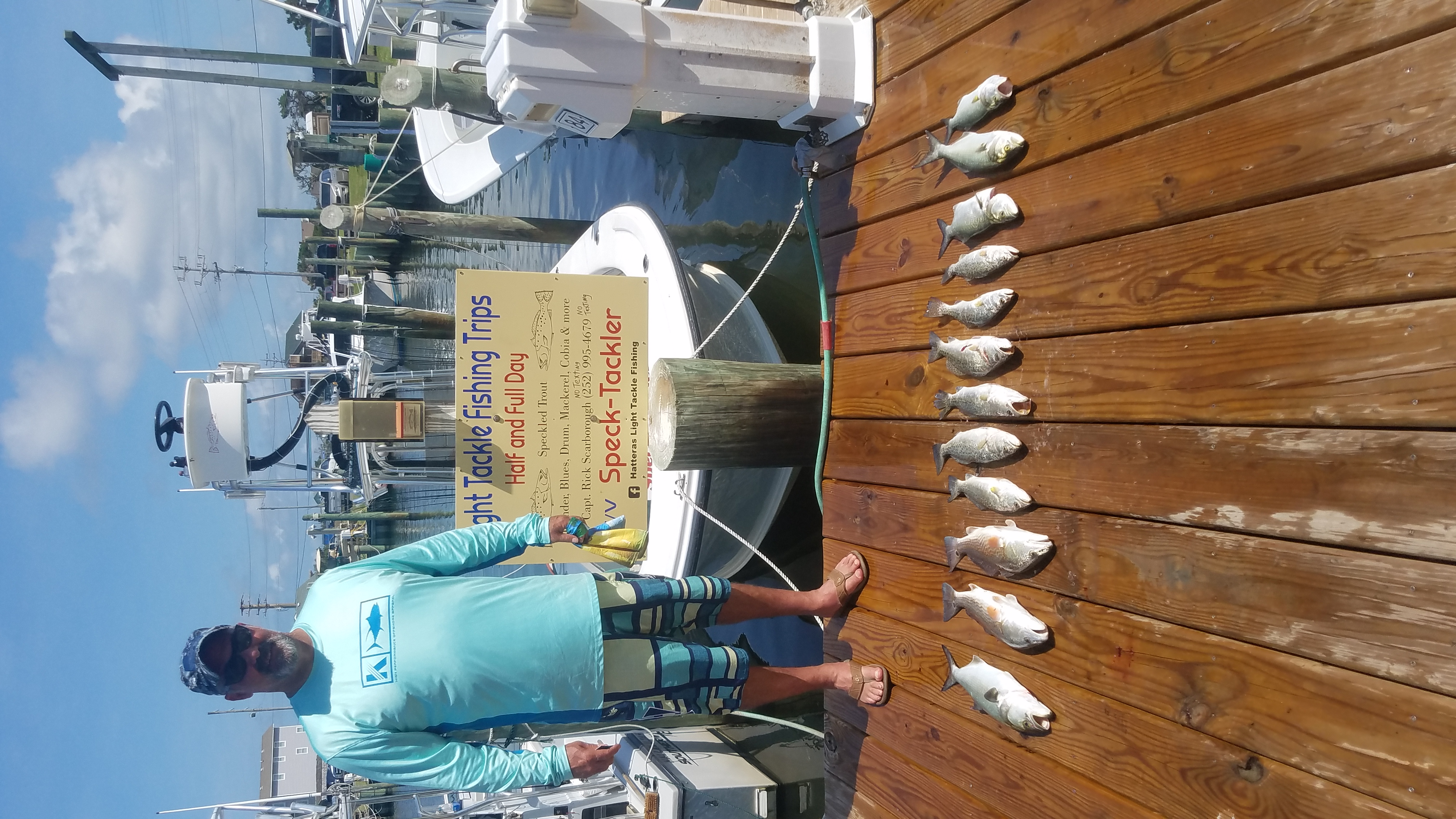 Speck-Tackler Teach's Lair Fishing Charter Inshore Hatteras