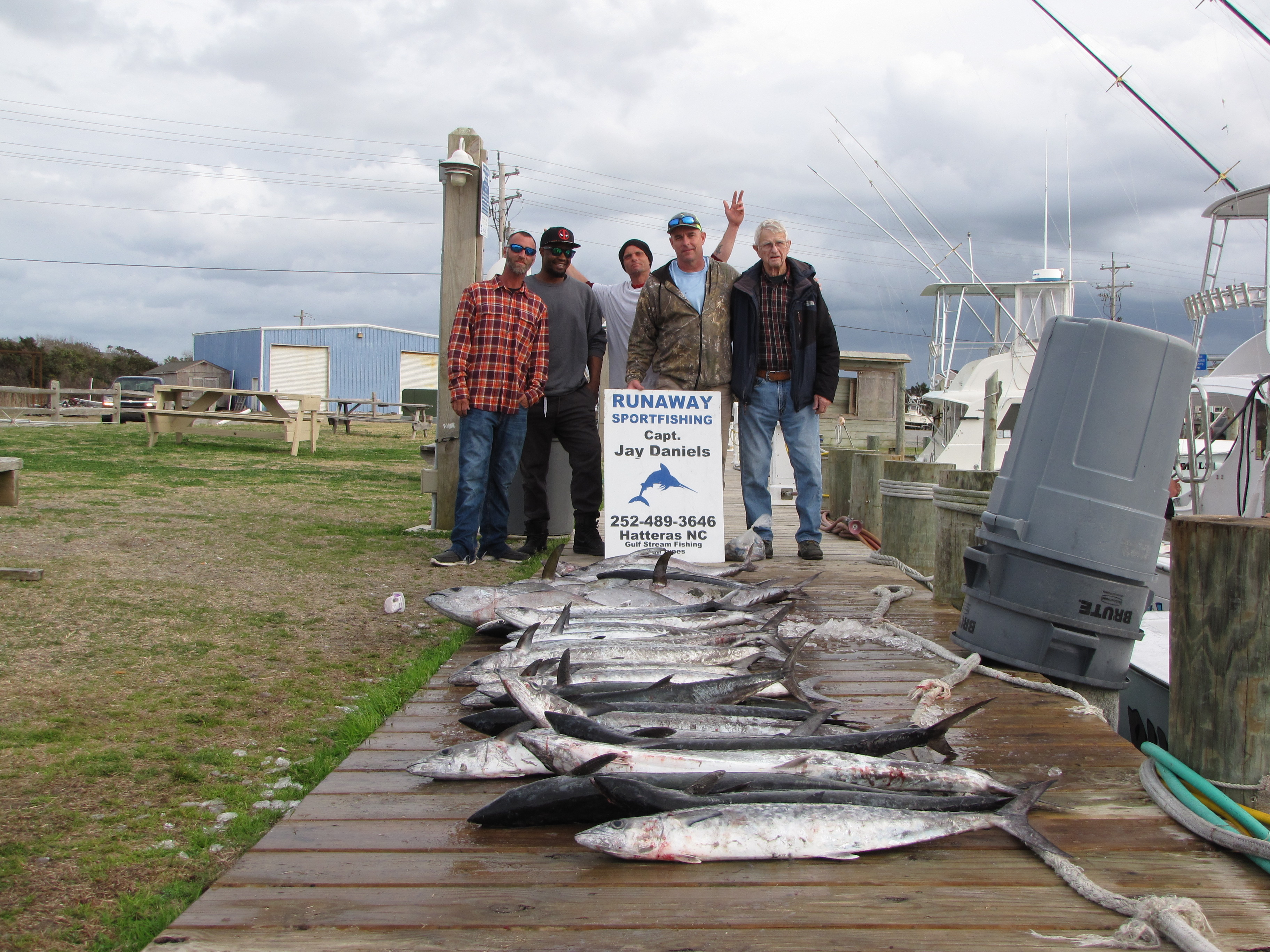 I planned on doin this report last saturday but weather n for Davey s locker fish report