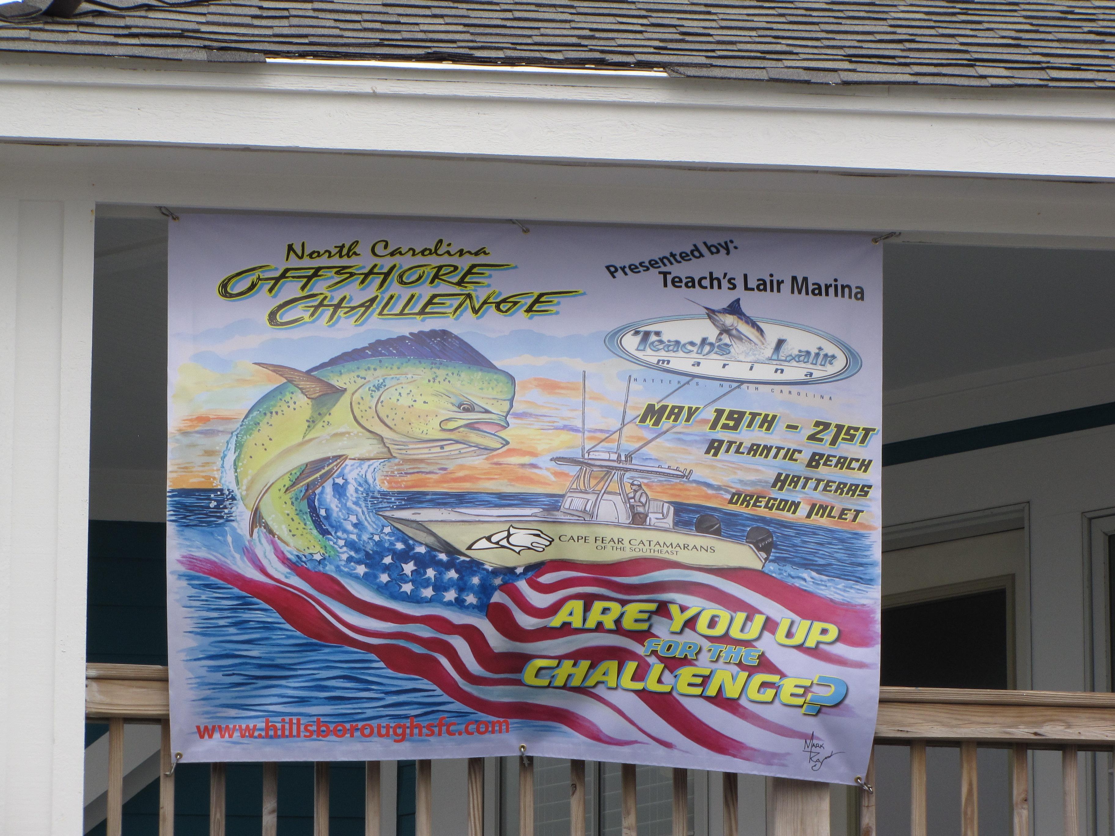 Dolphin Tournament Fun Hatteras Fishing Prizes Teach's Lair Marina